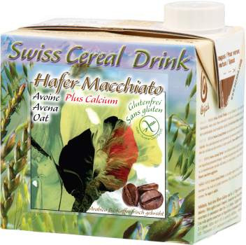 Bio Swiss Cereal-Drink Hafer Macchiato plus Calcium glutenfrei 0.5L